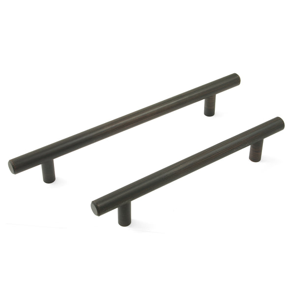Rubbed Bronze T Bar Handle - 2 Lengths