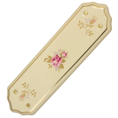 Chintz Rose Cream Porcelain / Ceramic Finger Plate