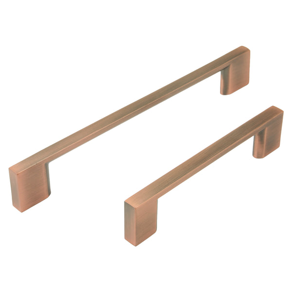 Antique Copper Finish Slimline Pull Handle - 2 Lengths