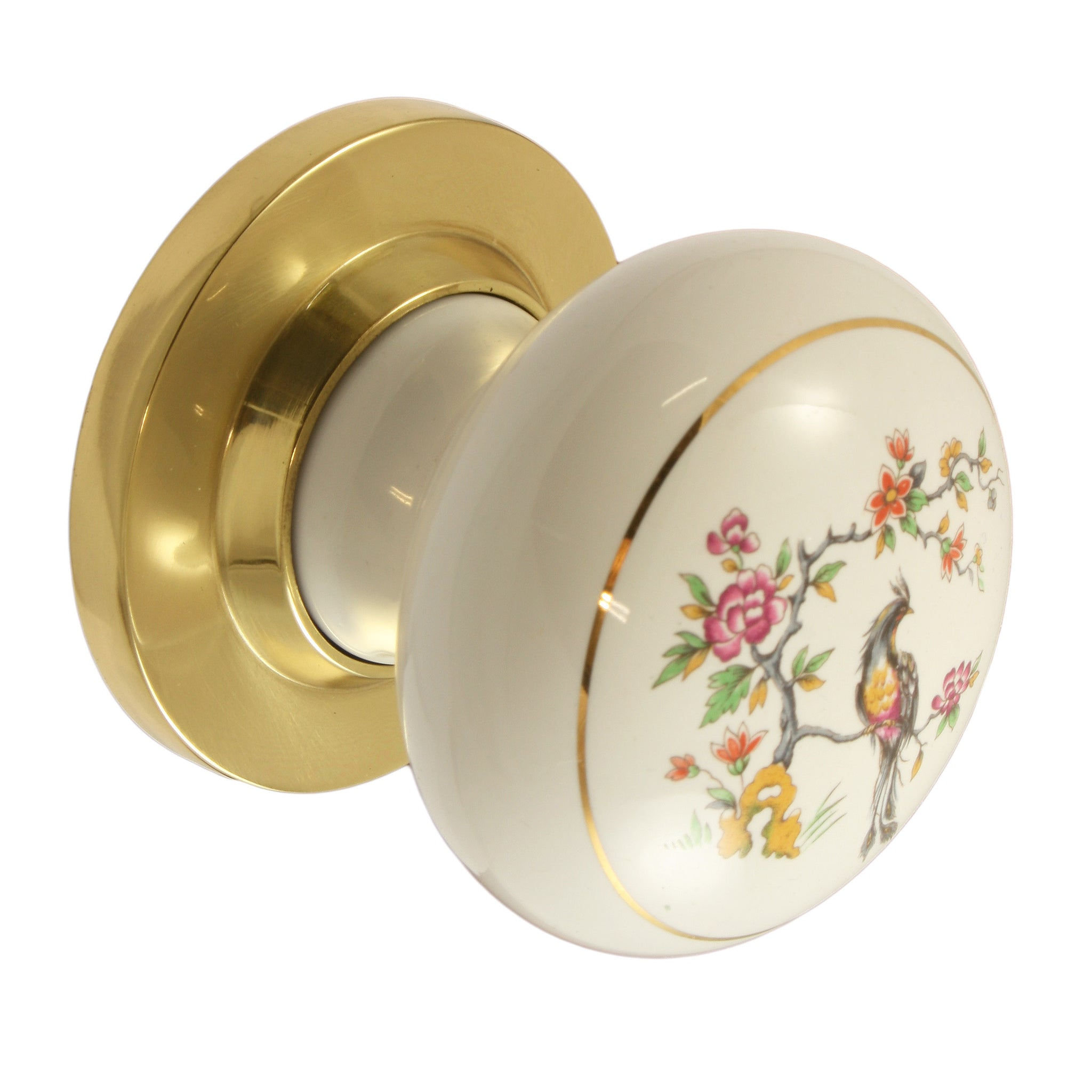 Festoon / Brass Ceramic Mortice Door Knobs