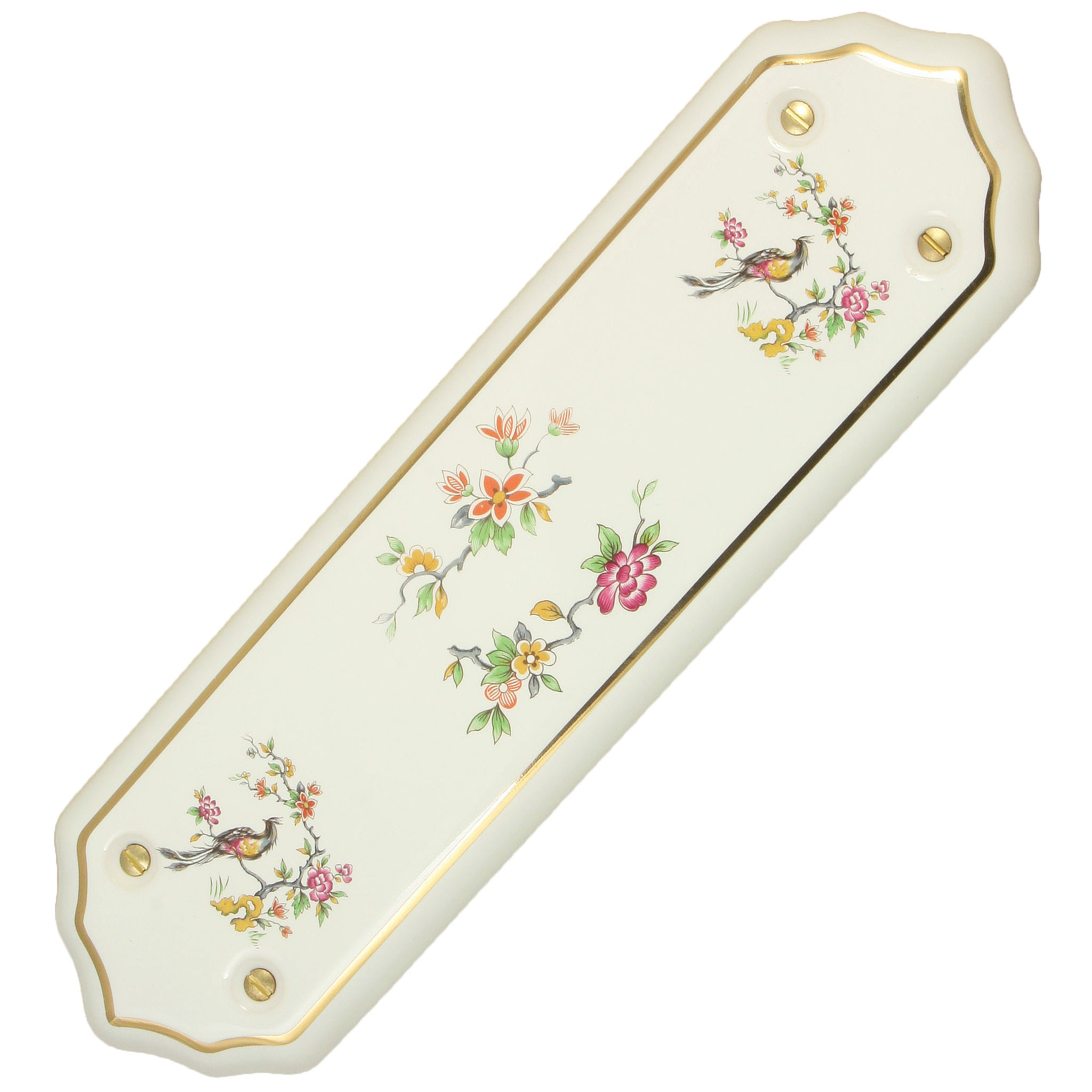 Festoon Porcelain / Ceramic Finger Plate
