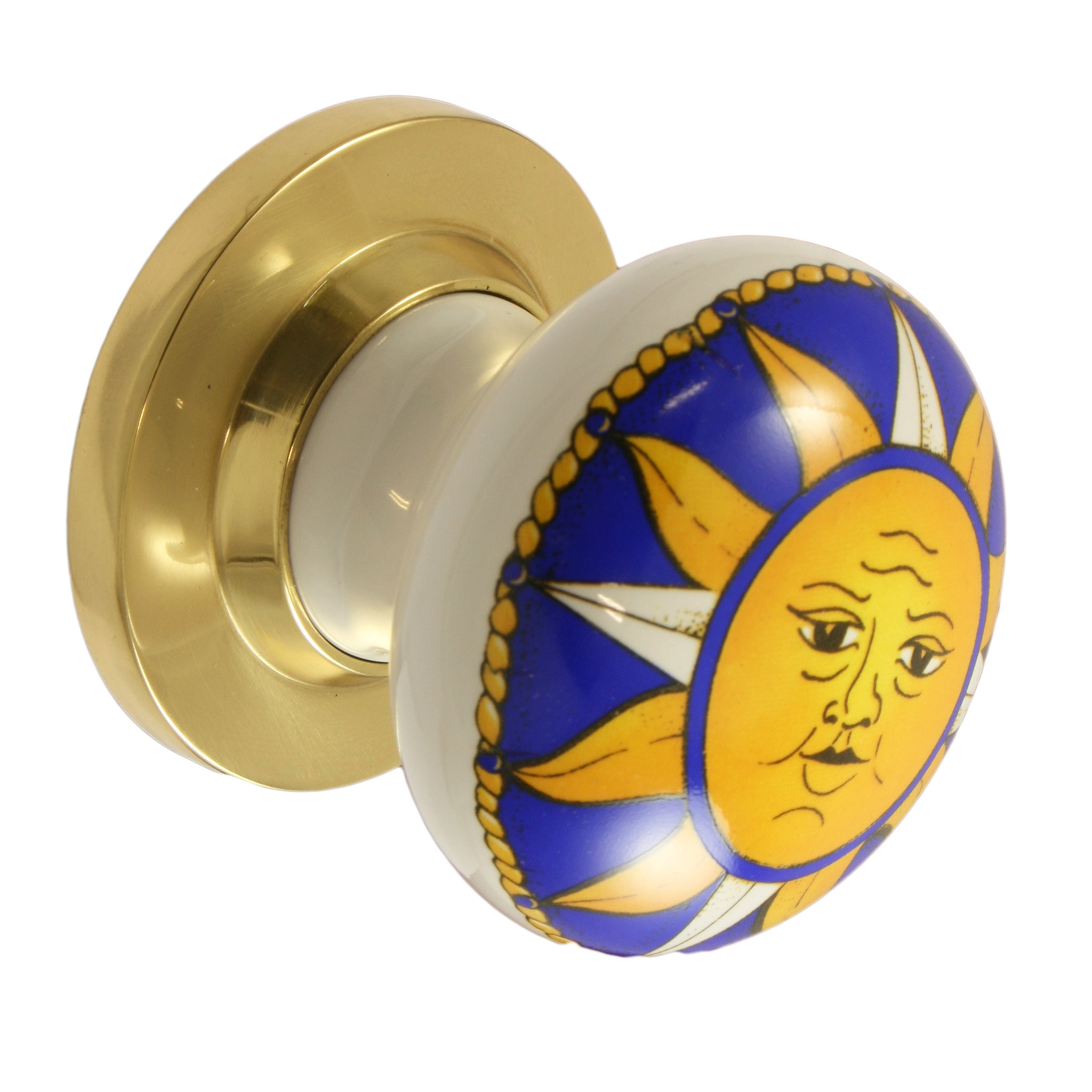 Pair of Galaxy / Brass Ceramic Mortice Door Knobs