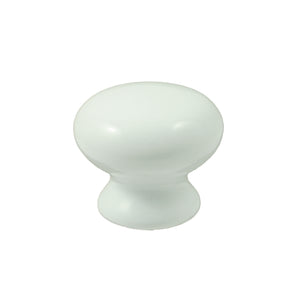White Ceramic Cupboard Knob