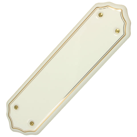 White Gold Coachlines Porcelain / Ceramic Finger Plate