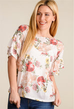 Load image into Gallery viewer, Floral Ruffle Sleeve Blouse