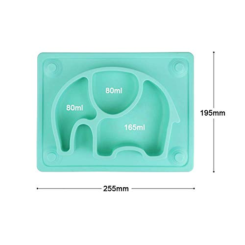 10x7.8x1.1 SILIVO Upgraded Silicone Non-Slip Baby Placemat with Suction Cups for Infants,Toddlers and Kids Baby Plates