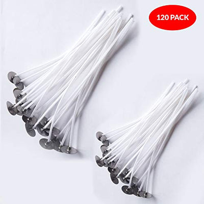(120 Pcs) Candle Wicks Pre Waxed for Candle DIY Making (120 Pieces)