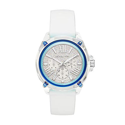Michael Kors Womens Analogue Quartz Watch with Silicone Strap MK6679