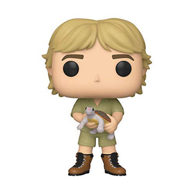 Funko 43977 POP TV: Crocodile Hunter-Steve Irwin Chase (Stlyes May Vary) w Collectible Figure, Multicolour