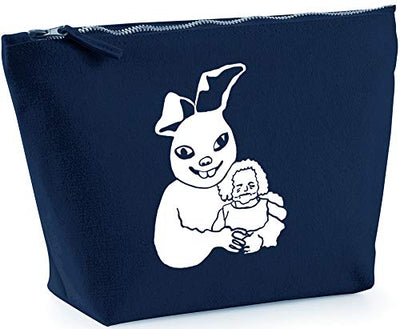 Hippowarehouse Scary Easter Bunny printed make up cosmetic wash bag 18x19x9cm
