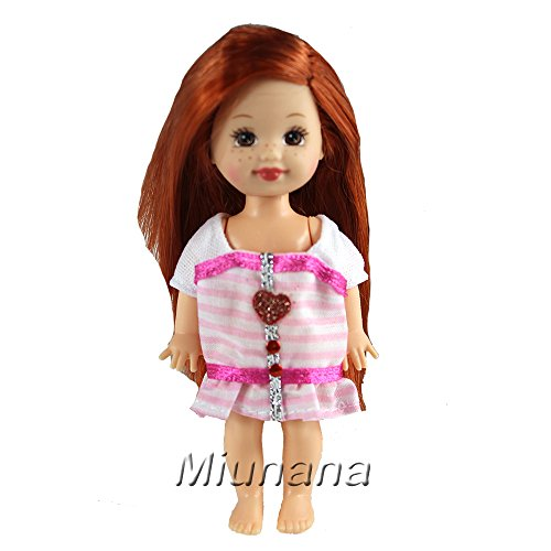 Miunana Lot 6 PCS Fashion Clothes Outfit Dress for Inch Kelly Doll And Chelsea Easter Gift