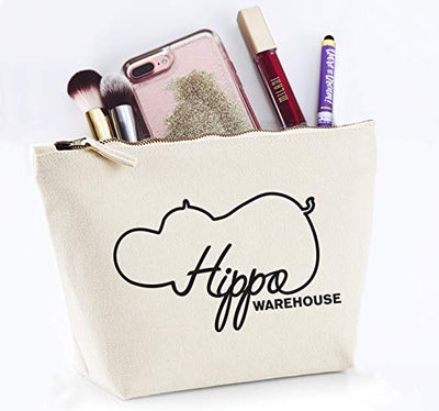 Hippowarehouse Hip hop hurray easter bunny is on his way printed make up cosmetic wash bag 18x19x9cm