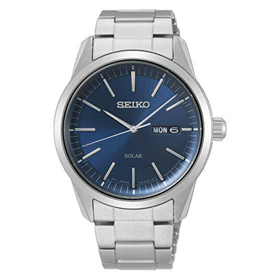 Seiko Mens Analogue Quartz Watch with Stainless Steel Strap SNE525P1