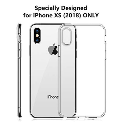 TORRAS Clear iPhone XS Case [Specifically for iPhone XS], Anti-Yellow Slim Thin Soft TPU Reinforced Silicone Gel iPhone XS Case Cover - Full Clear