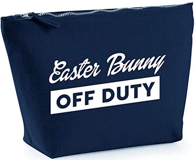 Hippowarehouse Easter bunny off duty printed make up cosmetic wash bag 18x19x9cm