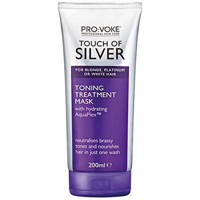 PRO: VOKE Touch of Silver Toning Treatment Mask for Blonde, Platinum, White or Grey Hair - 200 ml