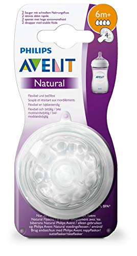 6m + Natural teats fast flow Philips Avent SCF044 // 27-2 with 3 holes