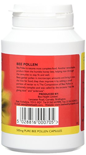 Bee Health 500mg Pure Bee Pollen 100 Capsules