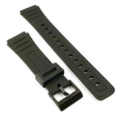 F91W, W96H Replacement Watch Strap - Made to fit Casio F-91W, W96H Generic Black Band