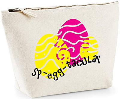 Hippowarehouse Sp-egg-tacular Easter Eggs printed make up cosmetic wash bag 18x19x9cm