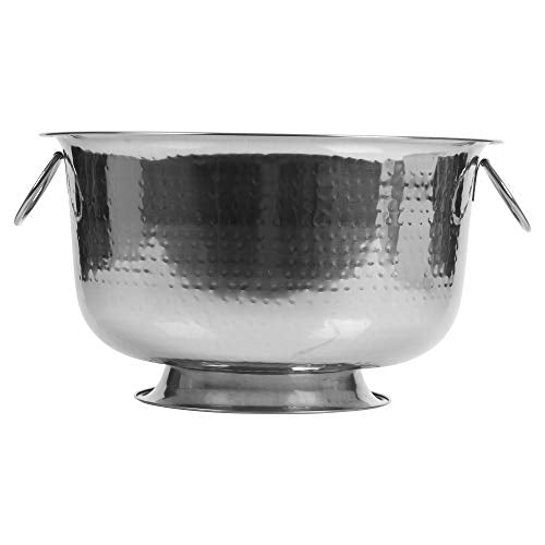 Importacion Large Stainless Steel Party Punch Bowl Champagne Wine Beer Cool Ice Bucket Bowl