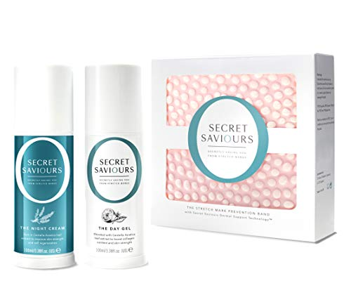#1 Secret Saviours Stretch Mark Prevention Kit - 3-Step Pregnancy Bump Support System