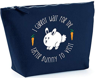 Hippowarehouse I Carrot Wait for the Easter Bunny to Visit printed make up cosmetic wash bag 18x19x9cm