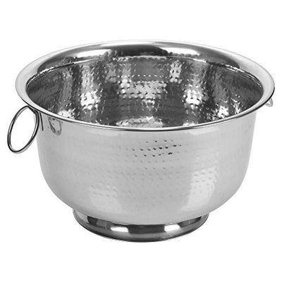 Large Round Ice Bucket Bowls and Bottle Holders Stainless Steel Party Punch Bowl Champagne Wine Beer Cooler (Ice Bucket with Dimple Design Ø36cm x H21cm)