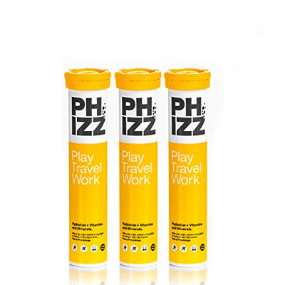 Phizz Hydration + Vitamins and Minerals Tablets - Pack of 3x20 Tablets (Orange)