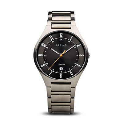 BERING Men's Analogue Quartz Watch with Titanium Strap 11739-772