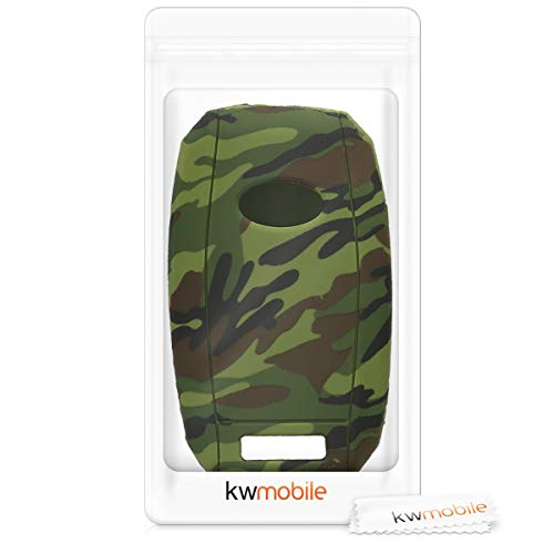 Silicone Protective Key Fob Cover for Kia 3-4 Button Car Key kwmobile Car Key Cover for Kia Black//Light Green//Dark Green