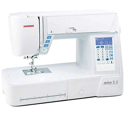 Janome Atelier 3 Computerised Sewing Machine. was £799, Save £100. Includes Free JQ8 Quilting Kit & Table Worth £185