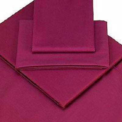 Viceroybedding 100% Egyptian Cotton Housewife Pillow Cases, Aubergine Purple, Pair 400 Thread Count