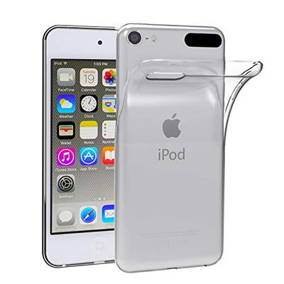 iVoler CLEAR SLIM Transparent Case for iPod Touch 7th/6th/5th, Soft Flexible Thin Gel TPU Skin Scratch-Proof Case Cover for Apple iPod Touch 7th/6th/5th Generation