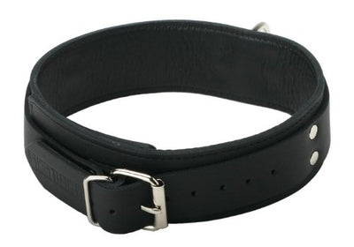 Strict Leather Black Standard Lined Collar