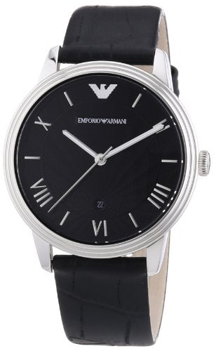 Emporio Armani Men's Analogue Quartz Watch with Leather Strap AR1611