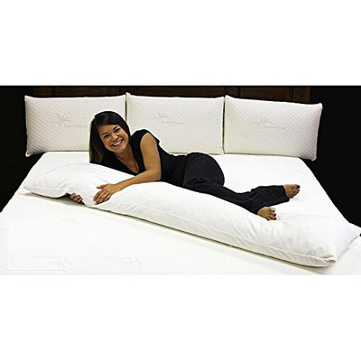 Iyan Linens Ltd Bolster Body Comfort Preganancy Maternity Orthopedic Soft Hollowfibre Effective Support for Side and Back Sleepers, Neck, Legs, Knees & Waist Pillow Only(King-5ft)