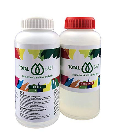 Clear Art Resin, totalCAST 500g kit (500ml / 16.9 oz), Epoxy Art Grade, ASTM Non Toxic