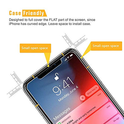 SPARIN [4 Pack Compatible with iPhone 11 Pro/iPhone XS/iPhone X Screen Protector, Tempered Glass Screen Protector [Easy Install Tool] [Case Friendly] [No Lifting Edge ] [HD Clear]