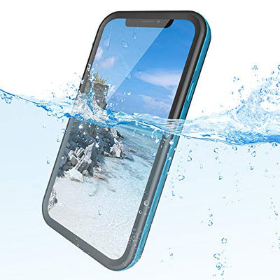 iPhone XR Waterproof Case, Shockproof Dustproof Scratchproof Full Seal Case with Built-in Screen Protector, Rugged Clear Cover for iphone XR (6.1 inch) Blue