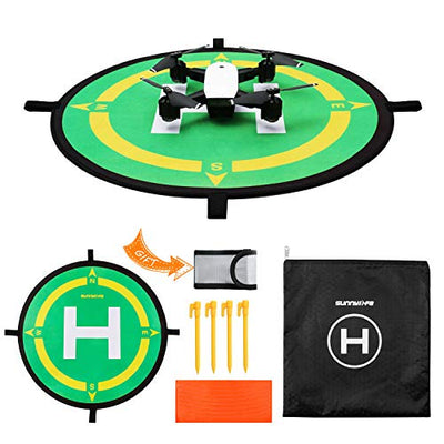 Hotbird Drone Landing Pad, Helipad Waterproof Portable Fast-Fold Compatible with DJI Spark, DJI Mavic Air, DJI Mavic 3, DJI Phantom 4, DJI Phantom 4 PRO, HS100G, XS809, S20, and other mini drones