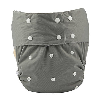 Adult Cloth Diaper Cover Nappy Reusable Washable Adjustable for Disability Incontinence Person (D04)