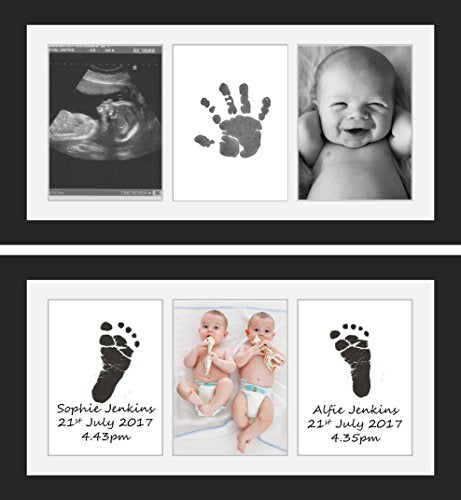 Gift for New Dad or New Mum Special Newborn Baby or 1st Birthday Gift Beautiful Baby Handprint or Footprint Keepsake Frame Easy to Use Smart Box Stylish Decoration for Nursery