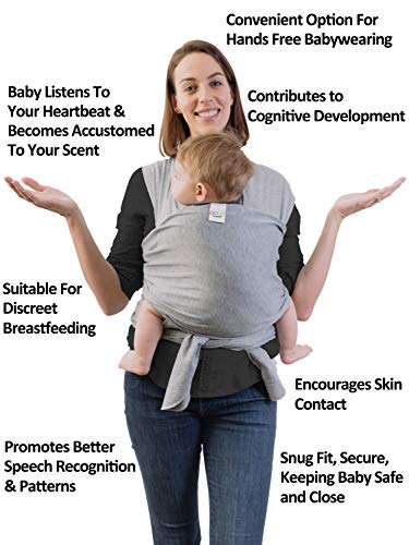 Comfortable /& Durable High-Quality Lightweight Baby Sling Wrap for Newborns to Toddlers Premium Cotton /& Spandex 5/% | UK /& EU Safety Tested Breathable 95/% for Hands-Free Baby Carrying