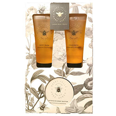 Easter Gift Royal Jelly Bath and Body Moisturiser Set | 100ml Cleansing Foam Bath | 100ml Cleansing Body Wash | 100ml Intensive Moisturising Body Butter