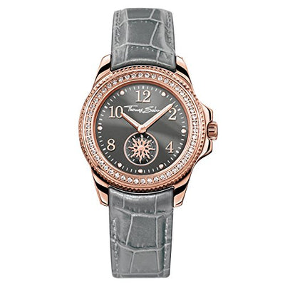 THOMAS SABO Women Women's Watch Glam Chic Women's WatchGlam Chic Stainless Steel; Leather Grey Alligator-Print Leather Strap WA0239-274-210