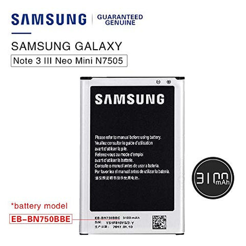 Samsung Original Battery EB-BN750BBE Galaxy Note 3 NEO N7505 /