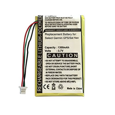 Compatible/Replacement Garmin Rechargeable Battery for Nuvi 1400, 1440, 1450, 1490, 1490T, 1690, 1690T, 200, 200w, 205, 205T, 205W, 250, 205WT, 252, 255, 255T, 255W, 255WT, 252w, 260, 260w, 260WT, 270, 265WT, 465, 465T, 710, 710T, 750, 750T, 755, 755T, 76