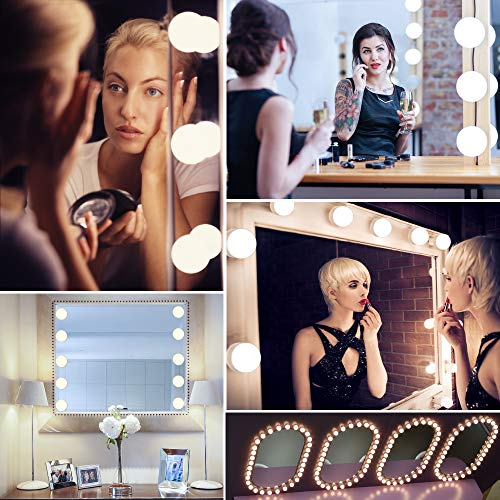 Girlfriend Make Up Light Dimmable Bulbs Hollywood Mirror Lights Bulbs 10 PCS Mothers Day Anniversary Christmas Best Gifts Ideas for Women AUSHEN LED Vanity Mirror Lights Mom Wife