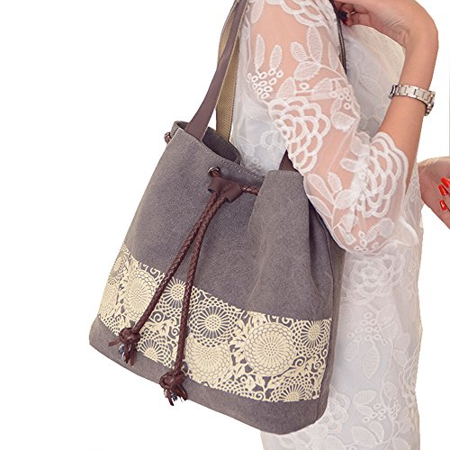 ParaCity Fashion Casual Style Lady Handbag Cotton Canvas Retro ...